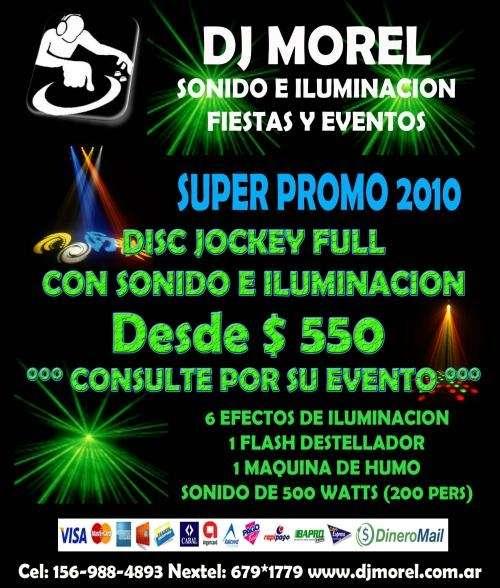 Disc jockey sonido e iluminación fiestas y eventos
