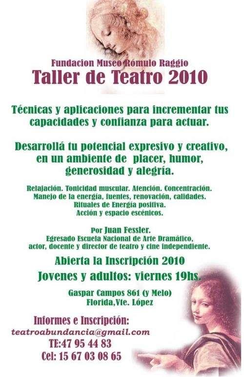 Teatro-aprend-actuar zona norte, olivos, vte. lópez