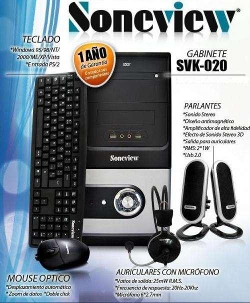 Kit atx soneview nuevo teclado mouse parlantes atxramos
