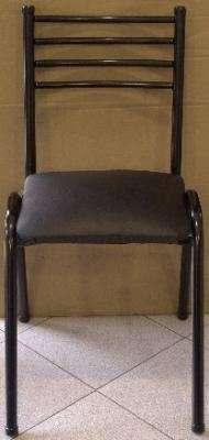 Vendo 18 sillas nuevas de caño, tapizado negro precio de fabrica .sur