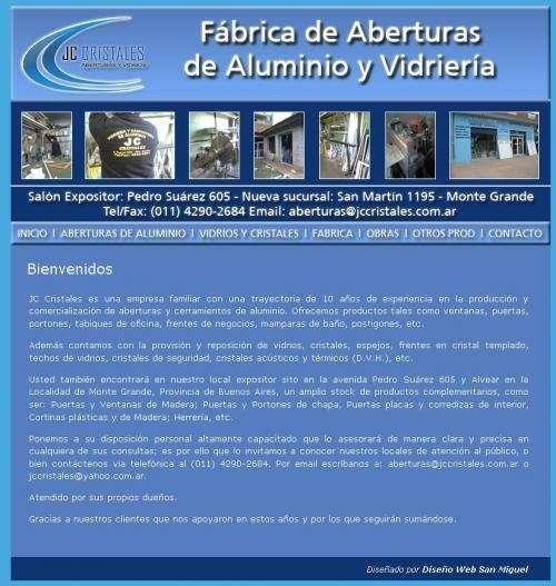 Jc Cristales Fabrica De Aberturas De Aluminio Y Vidrieria Monte