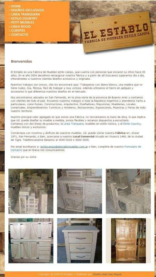 El establo | fábrica de muebles de álamo | entregas en todo el país | san fernando