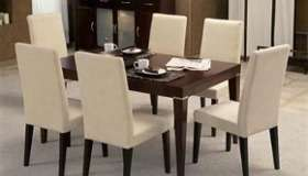 Mesa de comedor + 4 sillas lustrada en Capital Federal - Muebles ...