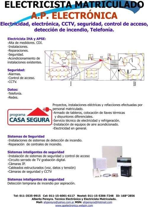 Electricista matriculado servicio que ofrecemos: eléctricos y electrónicos