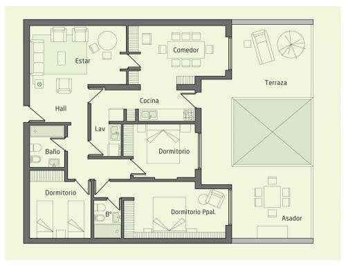 Departamento 3 dormitorios nueva córdoba