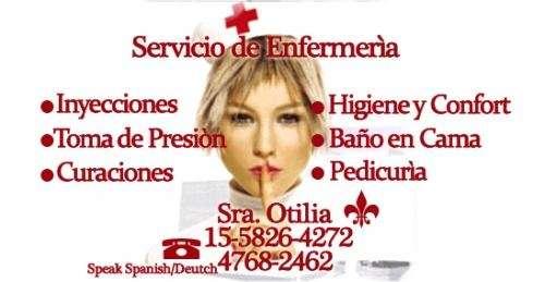 Enfermera profesional titulada y cuidado de personas a domicilio!!!