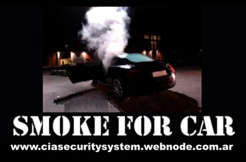 Sistemas antisecuestros con cortina de humo para coches