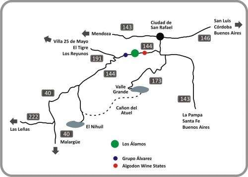 Vendo finca en cuadro benegas, san rafael, mendoza | 96 hectáreas | 960 metros sobre ruta nacional nº 144.