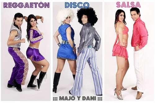 Show de salsa, show de reggaetón, show latino, show de baile disco! majo y dani show participativo