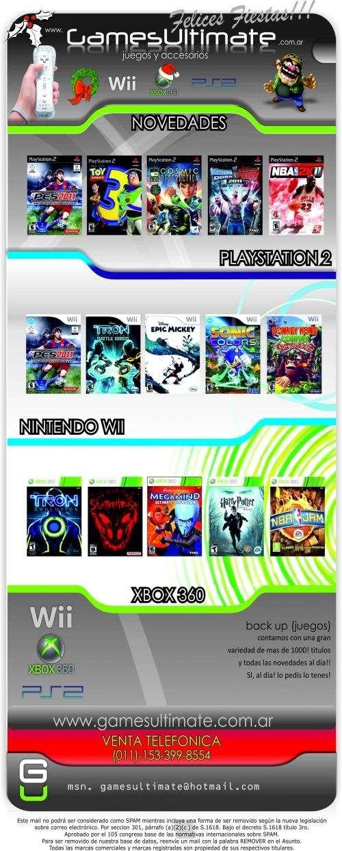Vendo juegos ps2,wii,xbox 360!! en san martin