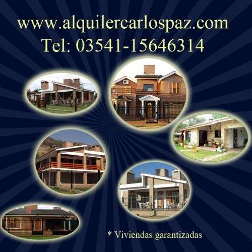 Villa carlos paz -dueño alquila casas c pileta x temporada