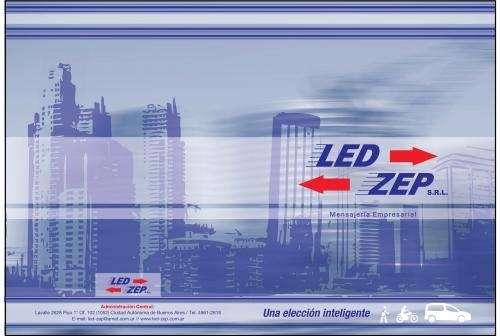 Mensajeria en moto led-zep s.r.l. tel.4963-2926