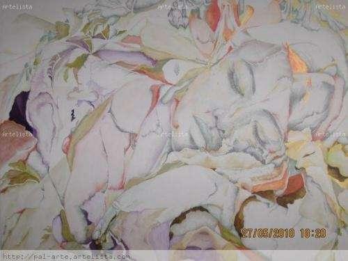 Obra de arte, tecnica mixta. viviana palomeque