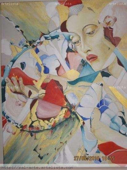 Obra de arte, tecnica mixta. viviana palomeque.