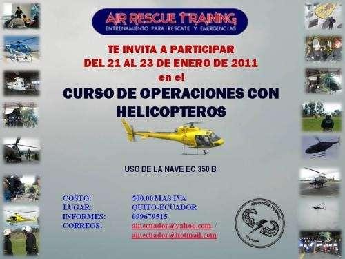 Air rescue training capacitacion 2011