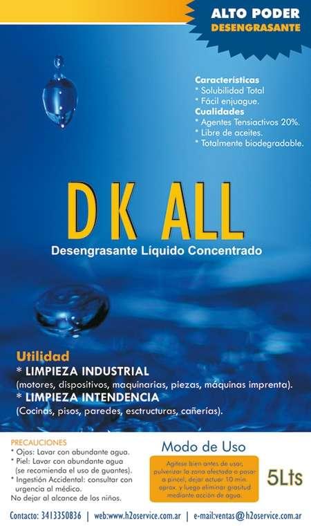 Desengrasante líquido concentrado - www.h2oservice.com.ar