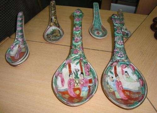 Vendo cucharas de porcelana china