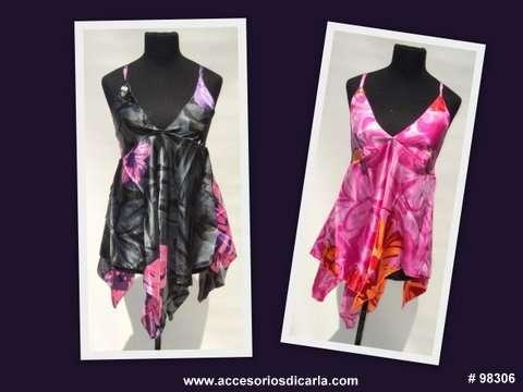 Vestidos de gasa estampados con hermosos bordados artesanales importados de india! solo para revendedores