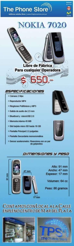 Nokia 7020 libre - nuevo!