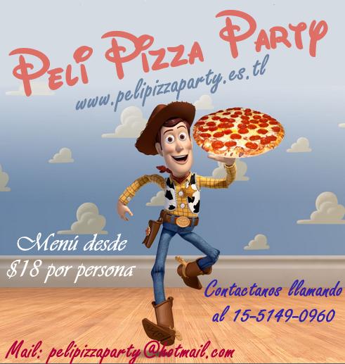 Pizza party zona sur. peli pizza party, menus ricos y economico