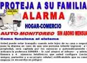 Alarmas domiciliarias hogar/comercio instalacion alarma