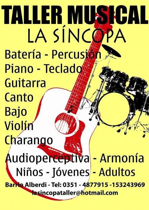 Taller musical la síncopa--- bateria-charango-canto-violin-guitarra-bajo-piano-armonica