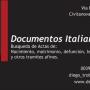 BUSQUEDA de documentos italianos  ( Actas de nacimiento, casamiento, defunción, legalizaciones y tramites afines)