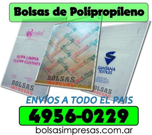 59414116d Bolsas de polipropileno impresas al 011 4956-0229 en Capital Federal ...