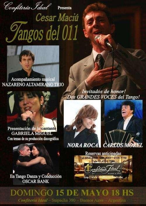 Cesar maciú, tangos del 011-confitería ideal-15/mayo/18hs