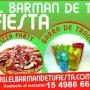 BARRAS DE TRAGOS Y PIZZA PARTY