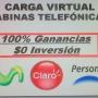CABINAS TELEFÓNICAS Y CARGA VIRTUAL
