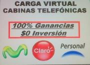 Cabinas telefonicas y carga virtual