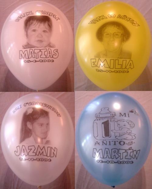 Globos impresos inflados con gas helio y cinta x 30 globoshow
