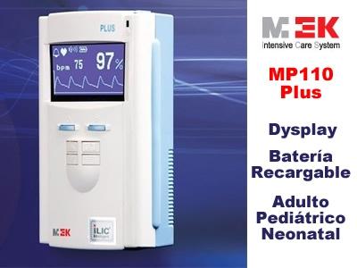 Oximetro de mano portátil marca mek modelo mp110 plus c/batería recargable