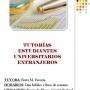 Tutorías para Estudiantes Universitarios Extranjeros.