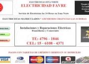 Electricista Vicente Lopez Zona Norte