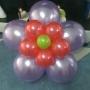 Decoracion con globos con helio y con telas