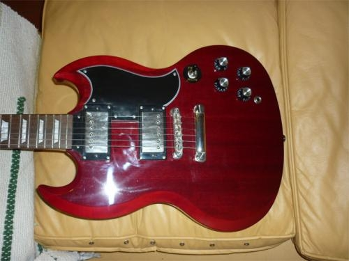 [vendo] guitarra epiphone sg g400 cherry como nueva ! ! !