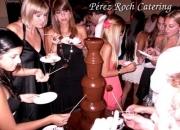Mesa dulce de cascada fondue de chocolate grande  en tandil, benito juarez, loberia, azul