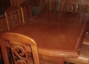 mesa y 6 sillas en roble excelente estado super precio imperdible!!!