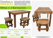 Diseños de Muebles - Todo en madera - 100% artesanal