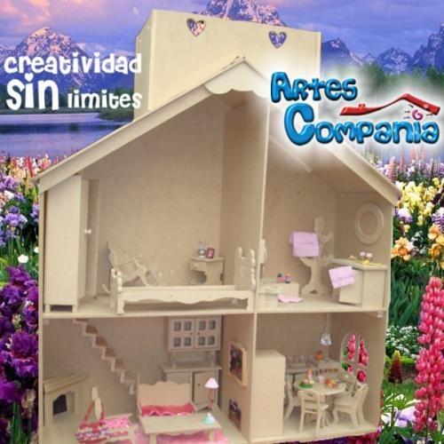 Casa muñecas barbie mansion con muebles terraza regalo