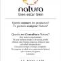 Querés vender productos Natura? Querés comprar? Querés ser Consultor/a Natura?