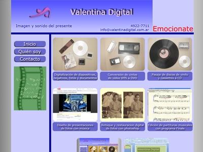 Diseño de página web valentina digital