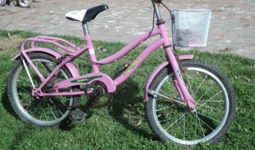 Bicicleta nena con canasto