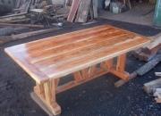 mesa de madera de quebracho colorado rustica
