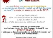 Programa para consultar comprobantes electrónicos AFIP