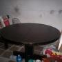 vendo mesa de madera maciza redonda