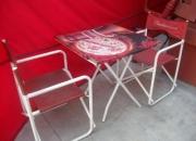 Vendo juego de mesa con sombrilla + 4 sillas