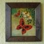 Cuadros artesanales pintados a mano con marco rustico, desde $ 60